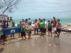 Poruma - community call for help to deal with erosion Jan 2014